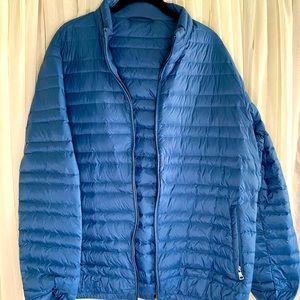 Men's Blue Puffer Coat